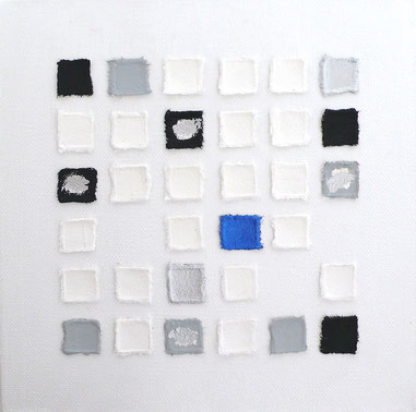 Leinwand schwarz weiß silber blau