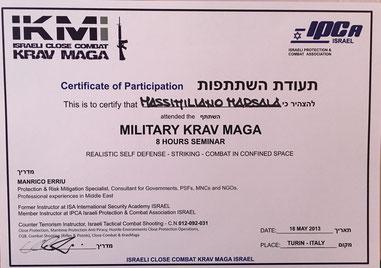 seminario krav maga Military Massimiliano Marsala
