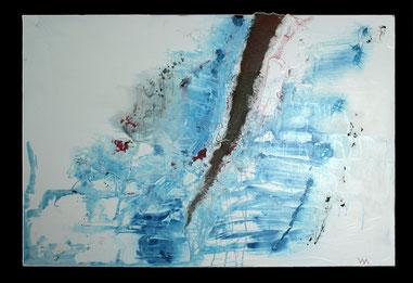 Veronika Matzner, Collage (Mischtechnik auf Leinwand)