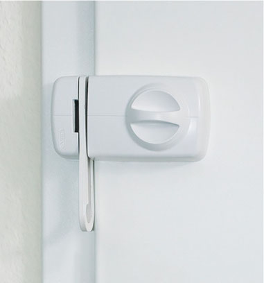 Tür-Zusatzschloss-7030-ABUS mit Sperrbügel