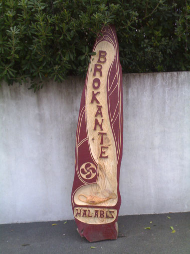 sign-board wood hand made