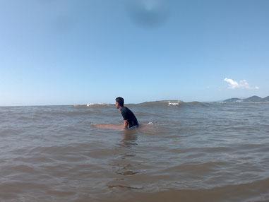 波待ちで完全に沈むくらいのボードでした。