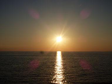 今日も夕日がキレイでした~