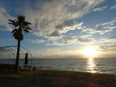 晴れたり曇ったりな一日でしたが、夕方は晴れました!