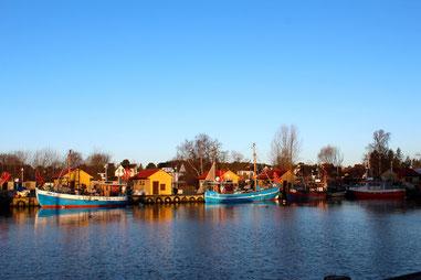 Bild: Hafen von Freest nur 120 m entfernt