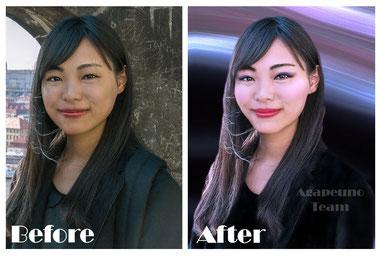 fotoritocco beauty cambio sfondo