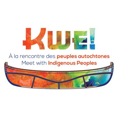 Logo KWE à la rencontre des peuples autochtones festival à Québec Canada