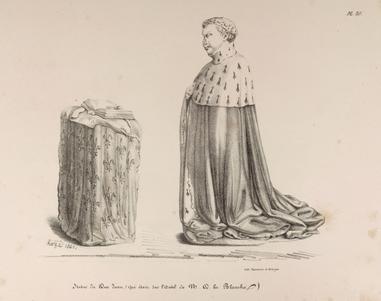 Dessin de Hazé (1840) avant restauration - Duc Jean de Berry