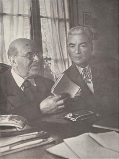 Henry Pepratx, photographié avec Pablo Casal
