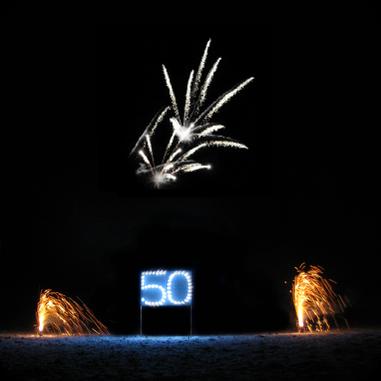 Geburtstagsfeuerwerk von funkenwelt auf Gut Schwarzerdhof in Bretten