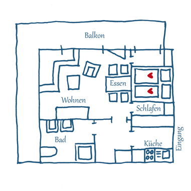 Grundriss Appartement 02 – Maria