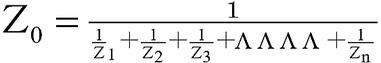 スピーカー等の合成インピーダンス 並列接続の算定式