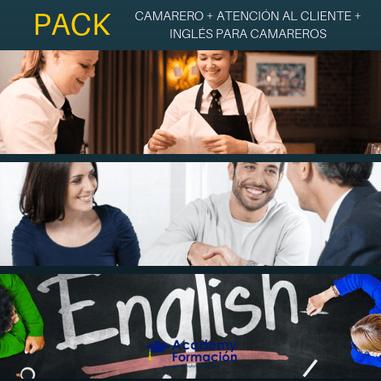 cursos de camarero, atención al cliente e inglés para camareros