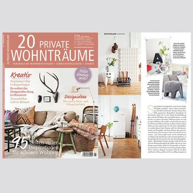 20 Private Wohnträume  / Januar, Februar 2014