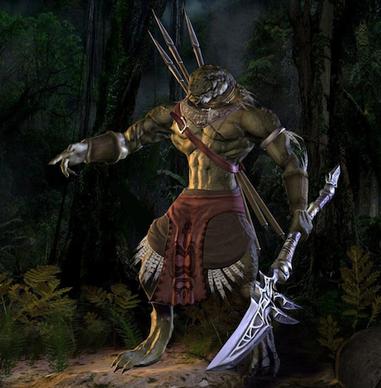 Personnage ressemblant à un Être reptilien guerrier