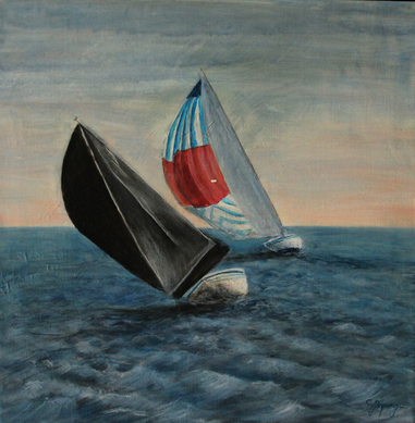 Nordseelust 30 x 30 cm Acryl auf Leinwand