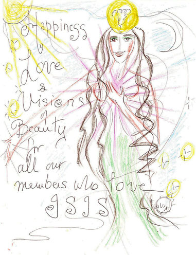 Holiday Greeting Original Art by Olivia Robertson  For Aset Shemsu