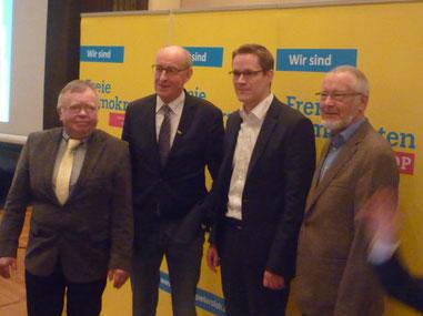 Eckhard Fuhrmann, Hermann Ludewig, Thorsten Baumgart, Ernst Sebbel (v.l.n.r.)