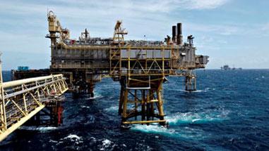 Gasboreplatform i Nordsøen, ejet af  Møller Maersk A/S