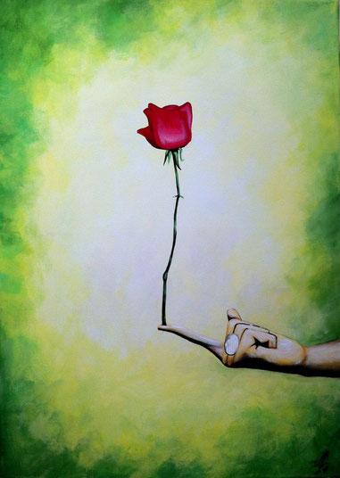 """""""Merci Beaucoup"""", 2012,  acrylic on canvas, 50x70"""