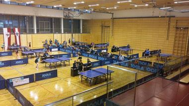 Wie beim Bundesliga Opening in Kufstein (Foto: www.ttbundesliga.at) wird auch in Baden beim Finalturnier der Bundesliga unser Team antreten. Ziel: Platz 13!