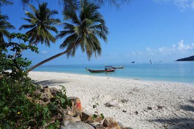 Ein Traumstrand immer Norden von Koh Phangan