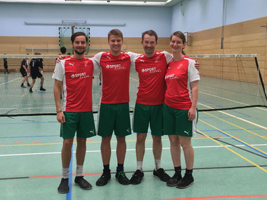 von links: Noah Wilke, Christopher Berges, Christian und Silke Weustermann