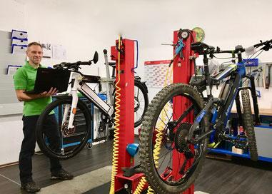 Inspektion für die e-Bike Saison 2020 in der e-motion e-Bike Welt Göppingen