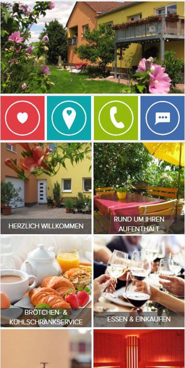 Ausschnitt aus der Landungsseite der digitalen Gäste-Informationsmappe des Wellness-Ferienhofes am Rebgarten.