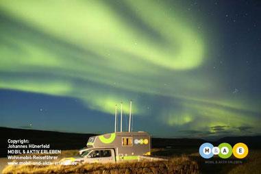 Polarlichter am 27.9.2016 im Hochland Islands (Laugarfell)