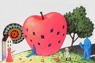 「Apple Hill」19.5×5.0cm クリアグラフ