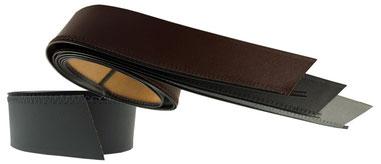 Herren Leder Futterband, Breite 4cm,Länge bis zu 67cm. Farben: schwarz, grau, braun