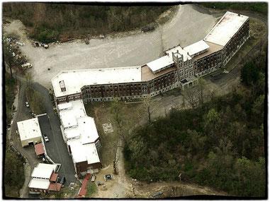 una fotografia aerea del sanatorio