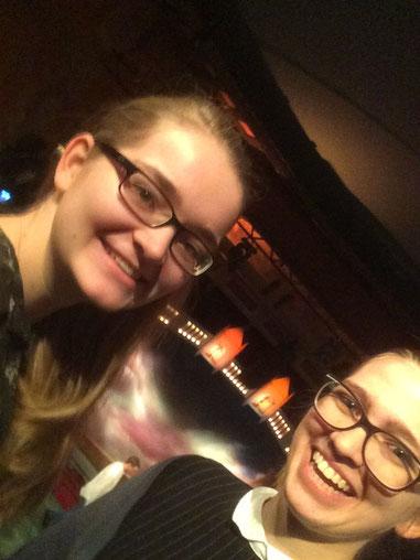 Maria Korten und Magdalena Kollbeck beim Musical-Besuch in Stockholm