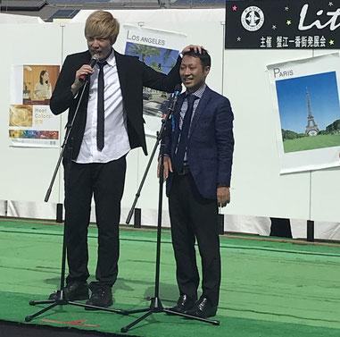 名古屋お笑い芸人 ファニーチャップ 蟹江町夏祭りで漫才
