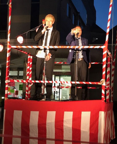 名古屋お笑い芸人 ファニーチャップ 豊橋市納涼祭で漫才