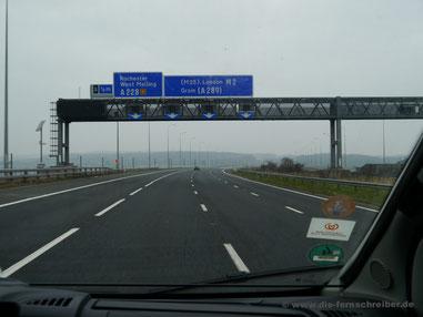 Ruhige Fahrt auf der M2 Richtung London