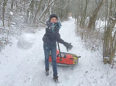 Schneeballspaß, Winterspaß Märkisch Oderland (Oderbruch-blog.de)