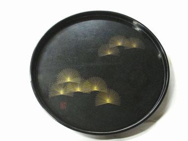 丸盆「扇松」の修理