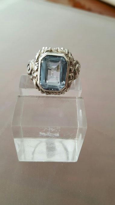 Blau Topas Ring 7 Silber