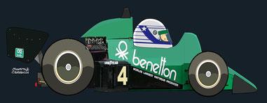 Danny Sullivan con su Tyrrell 011 by Muneta & Cerracín