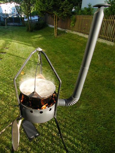 Das Kochen am Holzfeuer