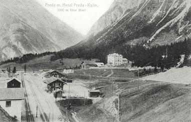 Verlag Hunkeler Phot. Bergün, gestempelt 15. Juli 1912