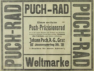 Quelle: Grazer Tagblatt Mi, 6. Juli 1904