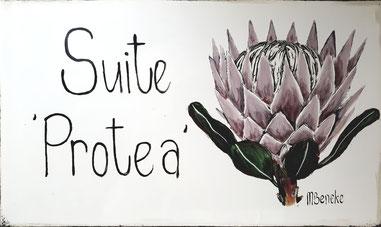 Suite 'Protea' - Door Plate