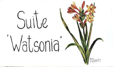 Suite 'Watsonia' - Türschild