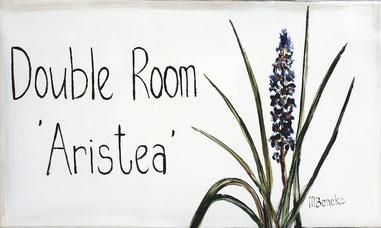 Dubbelkamer 'Aristea' - Deurplaat
