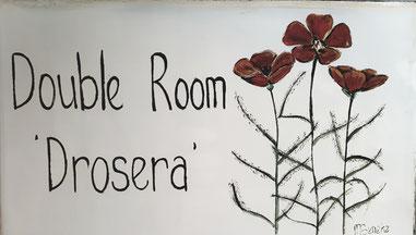 Doppelzimmer 'Drosera' - Türschild