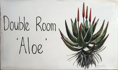 Doppelzimmer 'Aloe' - Türschild
