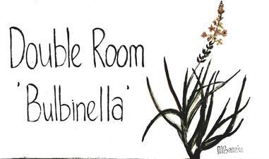 Dubbelkamer 'Bulbinella' - Deurplaat